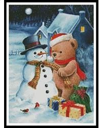 Teddy and Snowman
