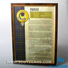 Durie History Print