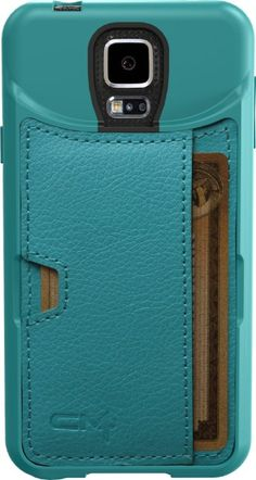 Galaxy S5 Wallet - Q Card Case for Samsung Galaxy S5 by CM4 - Pacific Green: Cell Phones & Accessories...For more Samsung Galaxy S5 Wallet cases, please visit http://www.galaxy-s5-cases.com/samsung-galaxy-s5-wallet-case