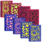 """Spiral Notebooks with Laser-Cut Plastic Covers, 5x7"""" - Covers make great stencils."""