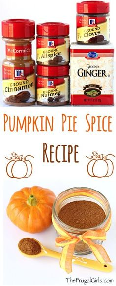 Pumpkin Pie Spice Recipe Spruce Up Your Favorite Fall Pumpkin Recipes With This Easy And Delicious Mix Of Spices. Only 5 Ingredients Homemade Pumpkin Pie, Homemade Spices, Homemade Seasonings, Pumpkin Recipes, Fall Recipes, Pumpkin Spice, Holiday Recipes, Pumpkin Pumpkin, Rib Recipes