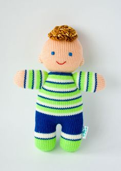 'DORBLE knitted baby doll. $25 from Freja Toys on Etsy.