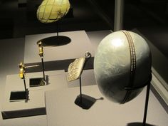"Faberge Houston exhibit |Nobel Ice Egg & ""Surprise"" Watch Pendant by Fabergé, workmaster Albert Holmstrom, St. Petersburg, 1913."