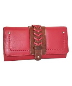 Look at this Nino Bossi Handbags Red Leather What a Wallet on #zulily today!