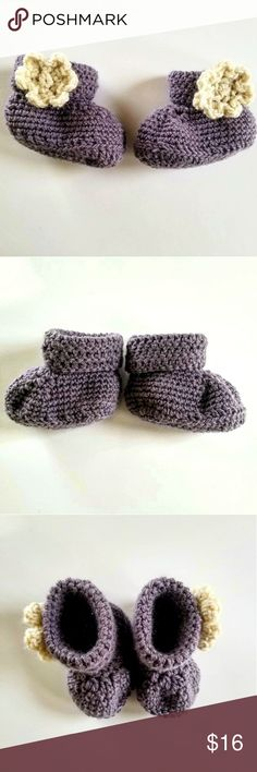 Spotted while shopping on Poshmark: Lavander Baby Booties 🌟0-3 months 🌟 Natural Wool! #poshmark #fashion #shopping #style #The Krystal Perspective #Other
