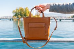 Shoulder Bag in Caramel Pouches, Leather Bag, Caramel, Shoulder Bag, Bags, Collection, Accessories, Taschen, Leather