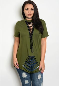 Plus Size Distressed Tee with Lace up detail http://style-your-curves.com/products/plus-size-distressed-tee-with-lace-up-detail?utm_campaign=crowdfire&utm_content=crowdfire&utm_medium=social&utm_source=pinterest