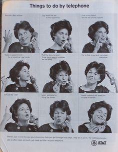Things to do by telephone