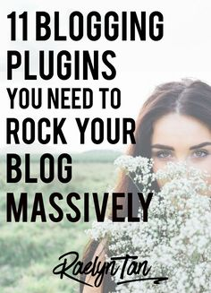 My favourite must-have blogging plugins that you'll need for your blog. #blogging #plugins