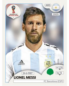 Lionel Messi (Argentina) Panini Fifa World Cup Russia 2018 Sticker by StickersMasters on Etsy Uefa Football, Soccer Fifa, Messi Soccer, World Cup Russia 2018, World Cup 2018, Fifa World Cup, Soccer Cards, Football Cards, Football Players