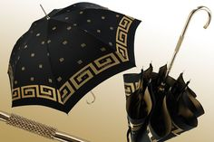 Marchesato Black and Gold Umbrella - Viola Umbrella
