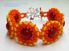 Beading for the very beginners: 'Autumn colors' bracelet