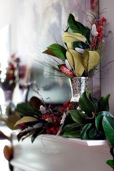 A Christmas Mantel - Back Porch Musings