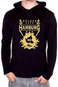 INDIV. HAMBURG DELUXE CITY T-SHIRT HOODY LONGSLEEVE AUS LIEBE ZUR HAFENSTADT!