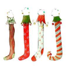 Metal Christmas Stocking Ornaments