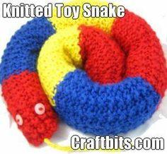 DIY Knitting DIY Yarn : DIY Knitted Toy Snake