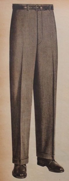 1950s mens fashion, 1955 Mens Dress Pants
