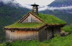 Grass covered cottage/Norway
