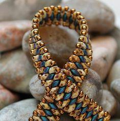 Petite Superduo Band Bracelet Bracelet manchette Tissage