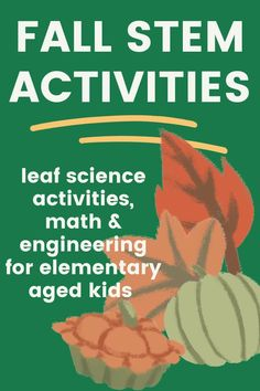 Celebrate the changing season with science and STEM!Fall is such a fun time to explore science, especially through the senses! There are no overlaps! Perfect for K-2/3rd and homeschool! Many activities can be modified for preschool and older kiddos as well. A fun activity pack for use in your classroom with a Fall themed unit, or at home for additional learning! Fall Preschool Activities, Autumn Activities For Kids, Toddler Learning Activities, Science Activities, Math Challenge, Boredom Busters, Fun Time, Sensory Play, Business For Kids