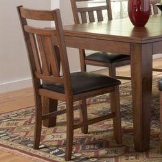 TRIBECCA HOME Kai Oak Brown Side Chairs (Set of 2)