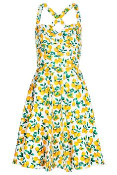 Zesty lemon dress, great for summer and maybe for bringing the summer into the winter months, paired with a nice shirt.