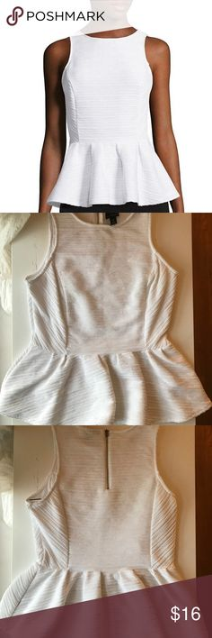 Worthington White Peplum Top This is brand new, no signs of wear and tear. Comes clean, open to offers :) Worthington Tops Tank Tops