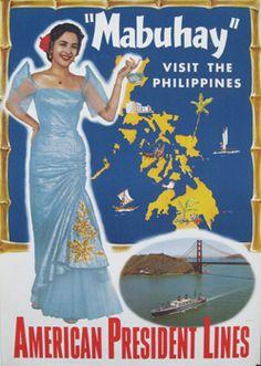 Vintage Travel poster Philippines