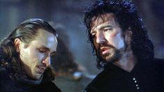 Michael Wincott (L) and Alan Rickman (R)