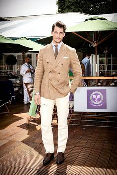 David Gandy in Ralph Lauren at Men's Quarter Finals at Wimbledon July 2014 http://www.whats-he-wearing.com/2014/07/david-gandy-in-ralph-lauren-mens-quarter-finals-wimbledon-2014.html