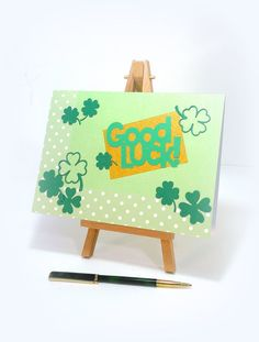 Hey, I found this really awesome Etsy listing at https://www.etsy.com/il-en/listing/257444524/handmade-card-good-luck-clover-four-leaf