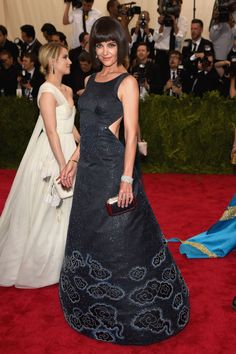 Katie Holmes in Zac Posen. See all the looks from the 2015 Met gala.