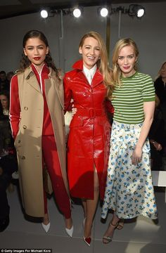 Blake Lively, Emily Blunt, and Zendaya attend the Michael Kors fashion show during New York Fashion Week Michael Kors Style, Michael Kors Fashion, Fashion Week Paris, New York Fashion Week 2018, Zendaya Coleman, Emily Blunt, Marie Claire, Fashion News, Fashion Show