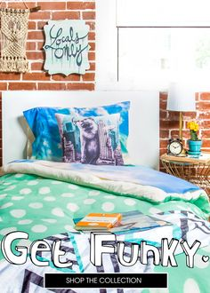 Get funky for back to school bedding. 8,000+ designs to choose from, every purchase supports an artist!
