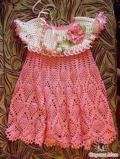 Crochet pinafore dress