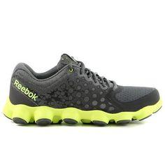 Reebok ATV 19 V54813 Grey Gravel Yellow Black Mesh Synthetic Running Shoes  Men  Reebok Shoes b566a38270