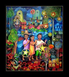 PAROL   Flickr - Photo Sharing! Christmas Parol, Christmas Lanterns Diy, Christmas Scenes, Christmas Decorations, Filipino Art, Filipino Culture, Christmas Illustration, Illustration Art, Illustrations