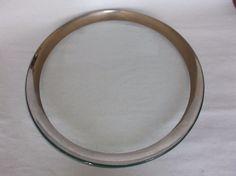 """Annieglass Roman Antique Platinum 12"""" Buffet Plate, signed, 1999, VGUC, #1 #Modern"""