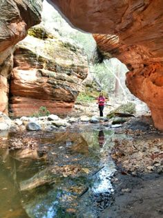 A 10 mile hike in canyons of beautiful Sedona. Moderately difficult and not too busy.
