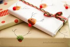 homemade christmas wrapping paper - Google Search