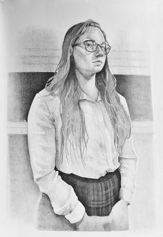 Melina, grafito sobre papel, 50 x 70 cm, 2015.