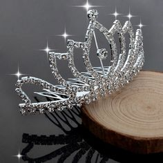 Elegant Pearl Rhinestone Tiara Wedding Bridal Hair crystal Comb Accessories Tops #Crown