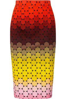 Jonathan SaundersAxel polka-dot stretch-cotton twill pencil skirt
