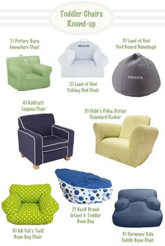 Toddler Chair Round-up | Hellobee thinking about one of these for the reading area in the toddler room.