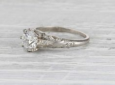 A gemstone solitaire may be the essential diamond engagement ring. Although other diamond engagement ring settings fall and rise in recognition, a solitaire ring is really a classic with constant, … Engagement Solitaire, Antique Engagement Rings, Rose Gold Engagement Ring, Engagement Ring Settings, Antique Wedding Rings, Bling Bling, Halo, Tiffany, Thing 1