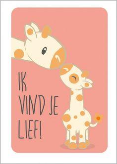 Poster Giraffen A4 Studio Circus