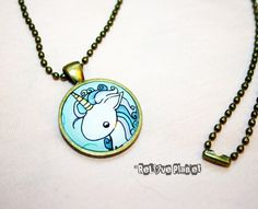 Items similar to Pretty Unicorn Pendant Necklace - or 2 for 20 - Happy Magic Fluffy rainbow kawaii - ReLove Plan.et on Etsy Unicorn Kids, Unicorn Art, Sooo Kawaii, Happy Magic, Thing 1, Bronze Pendant, Ball Chain, Unique Gifts, Handmade Items