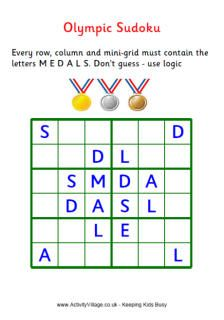 Olympic Games Puzzles #freebies from http://www.activityvillage.co.uk/olympic_games_puzzles.htm