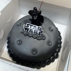 Star Wars.. Darth Vader cake! White cake, buttercream, & fondant.