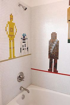 Ultimate boys shower tiles.  Sadly, I think I would appreciate more...